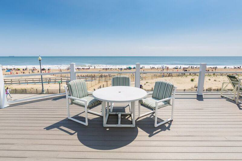 An oceanfront view from the sundeck of the Oceanfront Sundeck unit